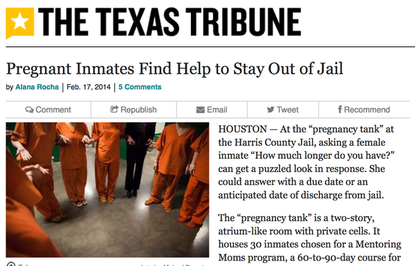 Pregnant Inmates Find Help to Stay Out of Jail (Houston, TX