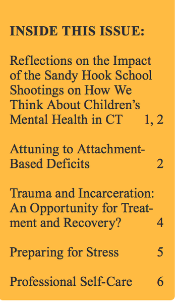 Trauma Matters Winter 2014 Looks At Lessons Learned From Newtown