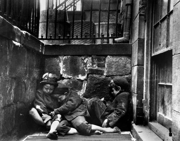 Street children, Jacob Riis photo, New York City, 1890
