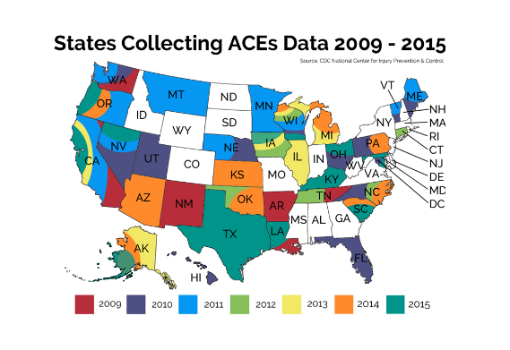 States collecting ACEs Data 2009 - 2015