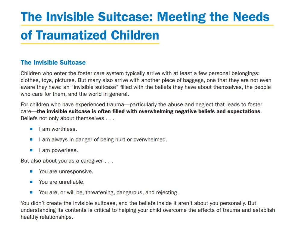Overcoming Childhood Trauma How Parents >> Trauma Informed Parenting Supplemental Resources Www Nctsn Org