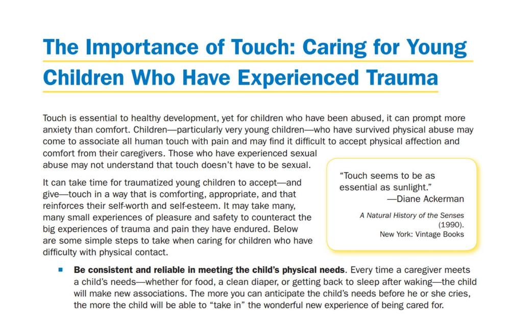 Trauma Can Make It Hard For Kids To >> Trauma Informed Parenting Supplemental Resources Www Nctsn Org