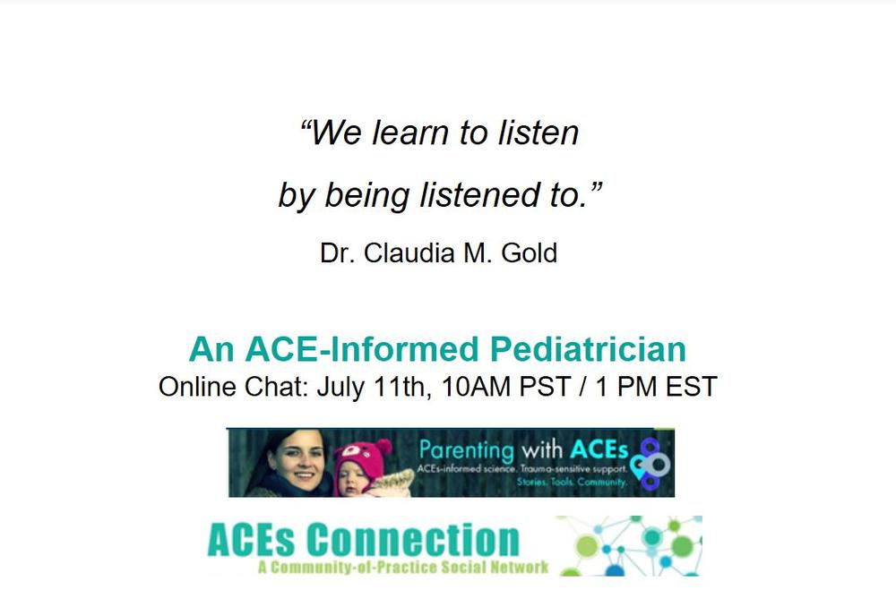 An Ace Informed Pediatrician Online Chat With Dr Claudia Gold