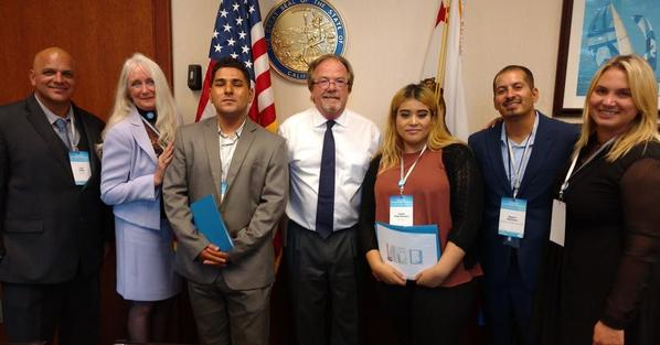 4CA Senator Joel Anderson office in Sacramento with Youth Voice 071117 whole group picture