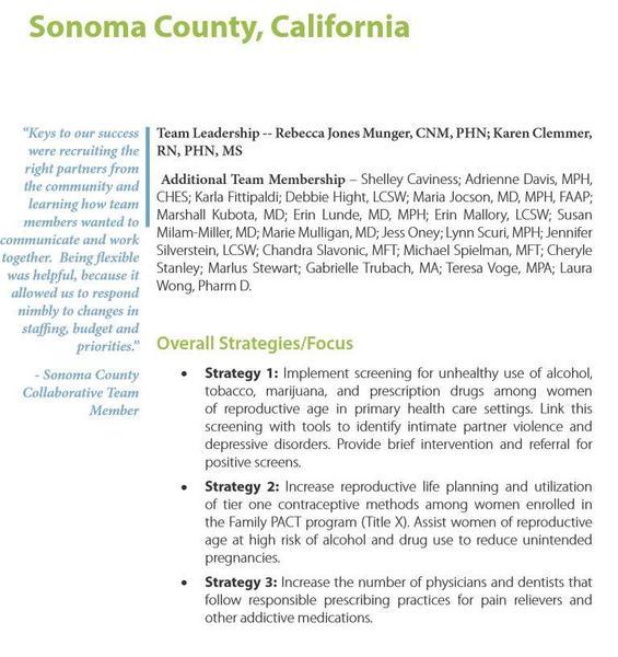 CityMatCH Sonoma County