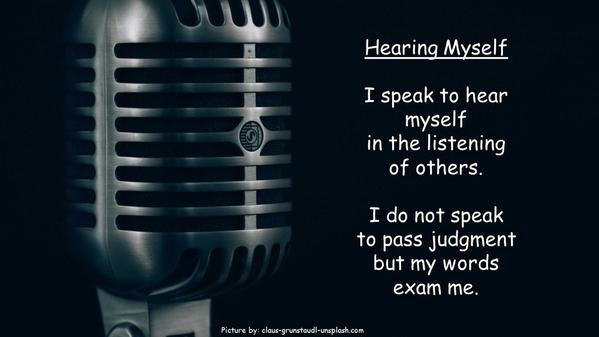 Hrearing Myself no ke
