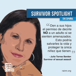 Julia Rape Survivor in Spanish