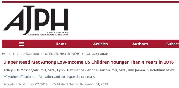 Journal Article re Diaper Need AJPH