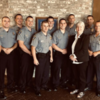 OK City: (Oklahoma City Police Department Lateral Academy cadets; Becky Haas, Trauma Informed Administrator Ballad Health, far right; Captain Ryan Boxwell, Training and Recruiting OKCPD)