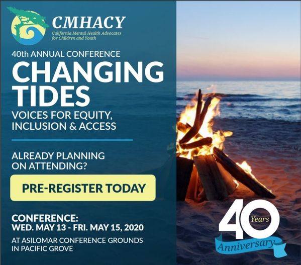 Conf Flyer CMHACY Changing Tides May 2020 Asilomar