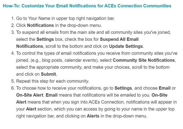 AC How To too many email alerts