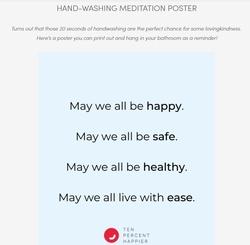 hand washing meditation poster