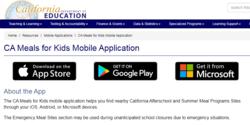 CA Meals for Kids app