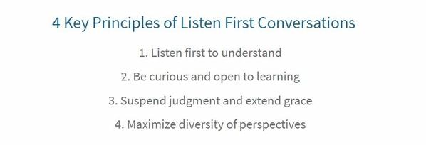 Listen First Conversations