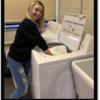 laundry: (Picture of Chilhowie High School's student led laundry service)