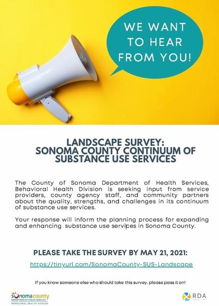 SUD survey due 5.21.21