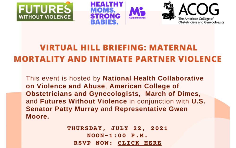 Maternal Mortality and Intimate Partner Violence: Virtual Hill Briefing