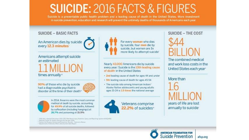 Suicide: 2016 Facts & Figures