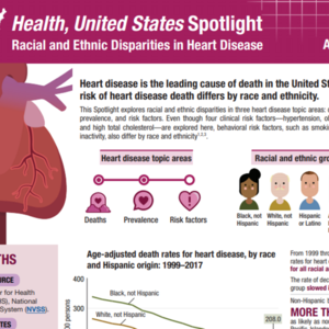 Health, United States Spotlight: Racial and Ethnic Disparities in Heart Disease April 2019 (Infographic)