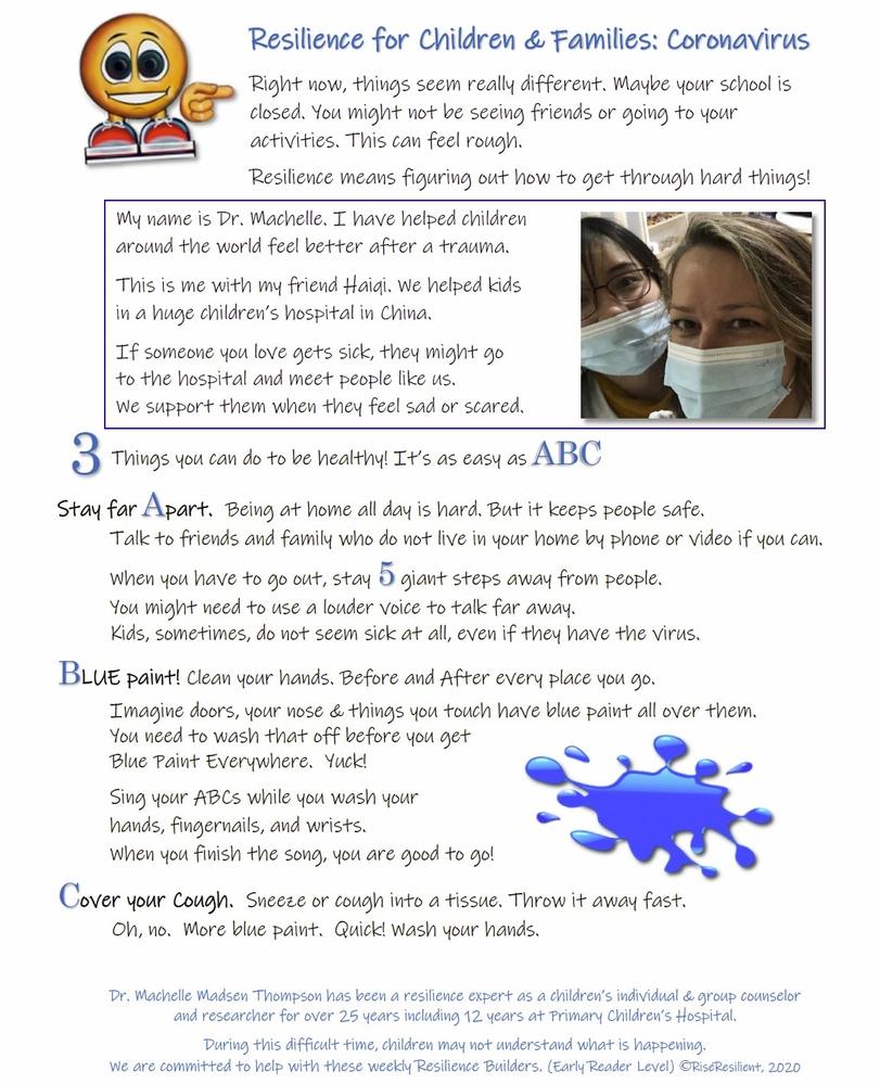 Children & Families Resilience. Coronavirus ABCs