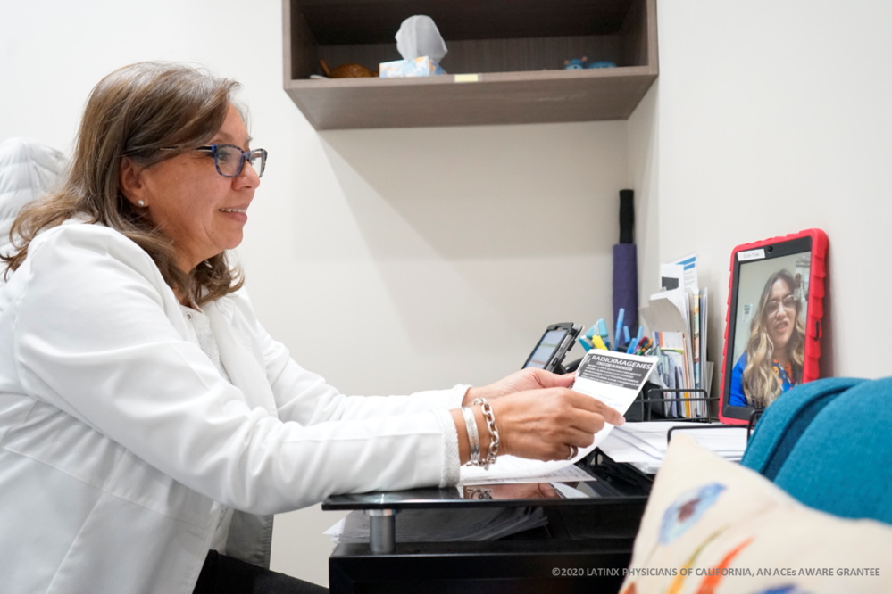 Telehealth Appt Between Latina Doctor and Patient-1