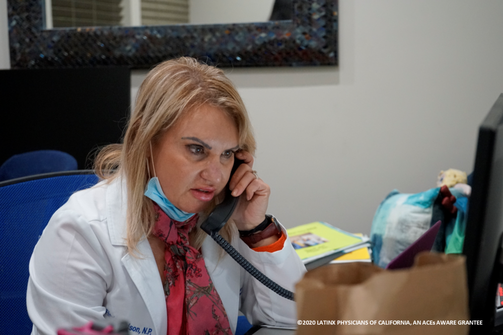 Latina Medical Technician on Phone with Patient