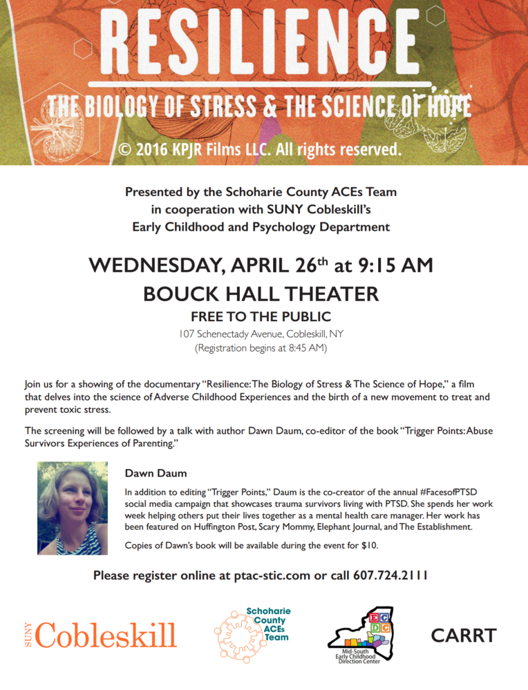Talk on Parenting with ACEs and community viewing of Resilience