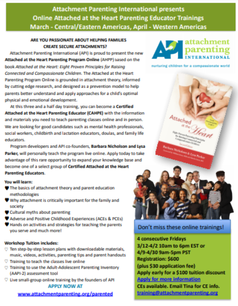 Attached at the Heart Parenting Program Online Educator Training