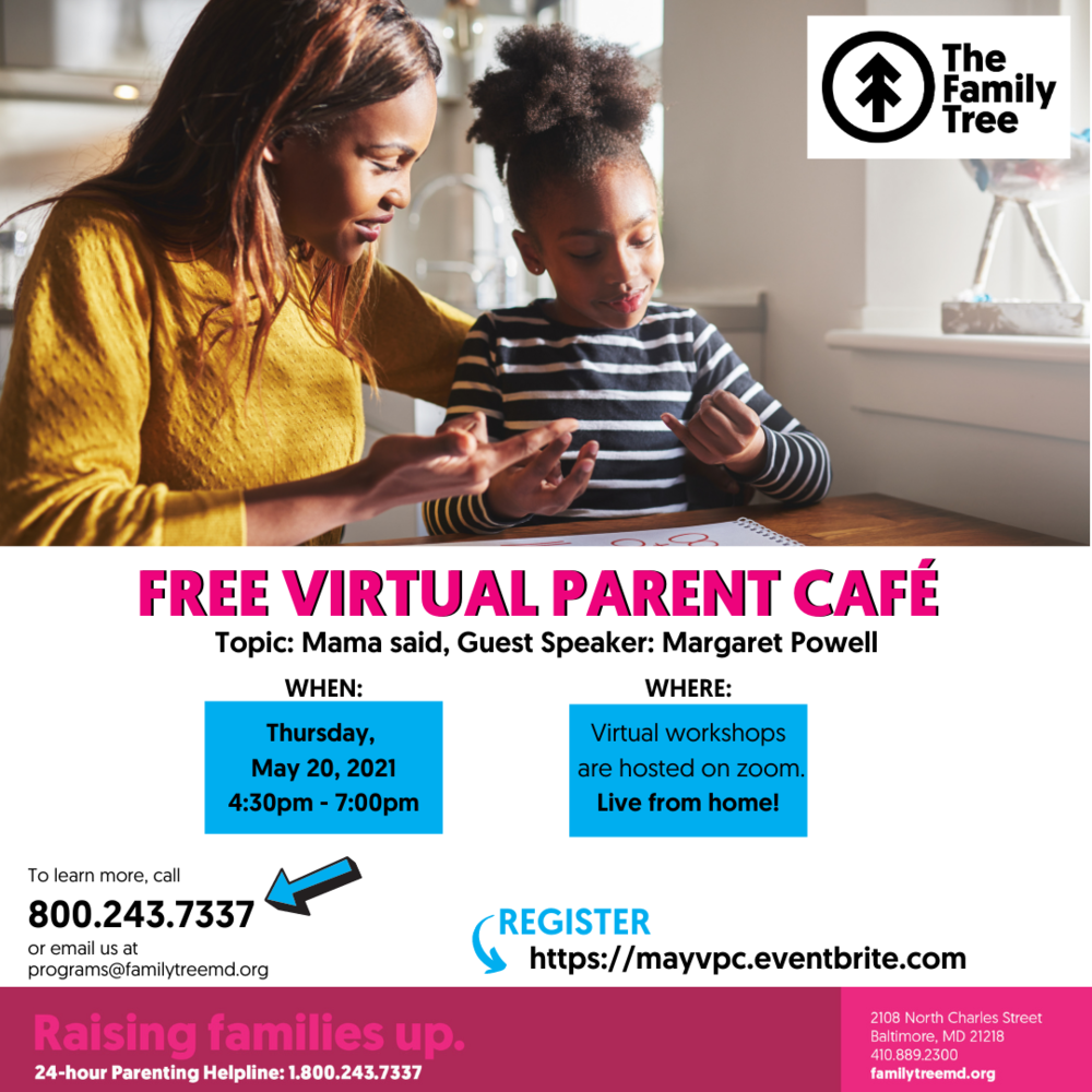 Free Virtual Parent Cafe in May