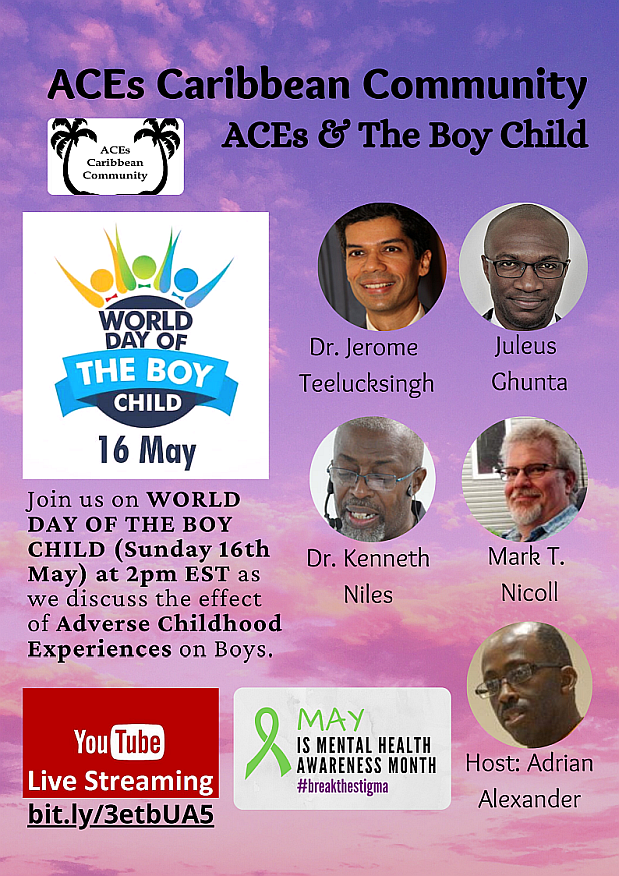 """Upcoming """"YouTube Live"""" - ACEs & The Boy Child (May 16 @ 2pm EST)."""