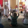 Little Yogi's: Here is a snapshot from my classroom of us doing our yoga practice.