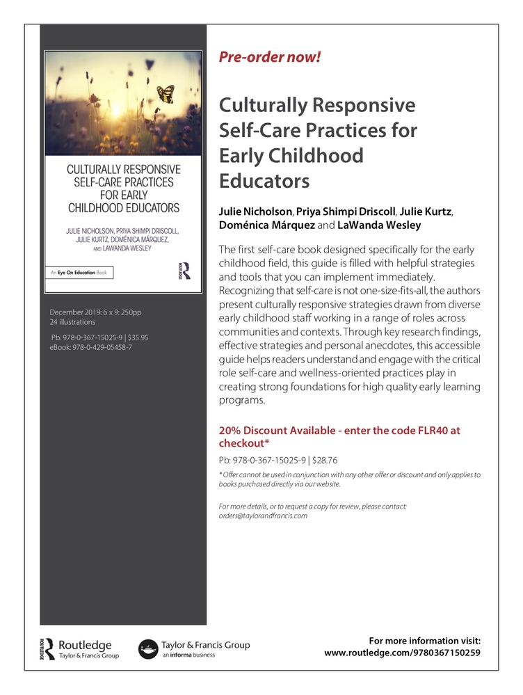 Culturally Responsive Self-Care for Early Childhood Educators