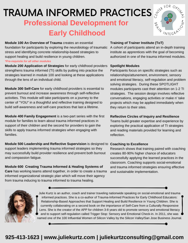 Trauma Informed Practices in Early Childhood
