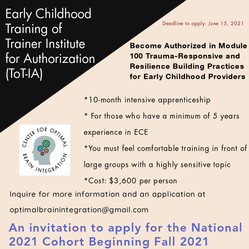 Early Childhood Training of Trainer Institute for Authorization in Trauma