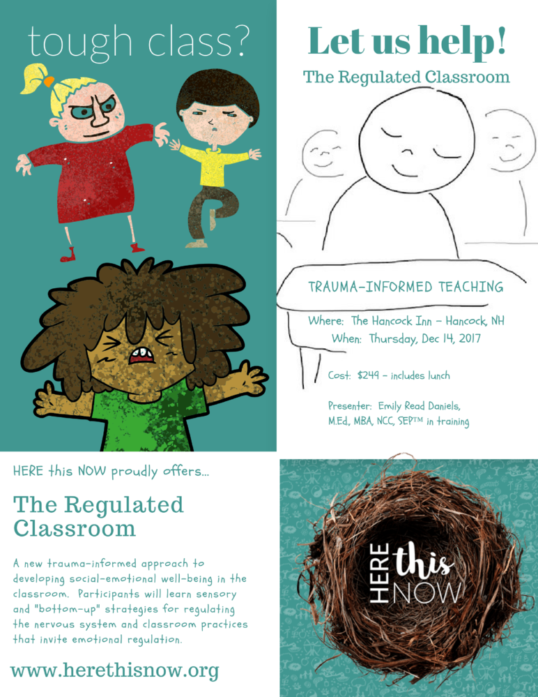 Trauma Informed Instruction:  The Regulated Classroom