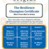 Origins Resilience Champion flyer