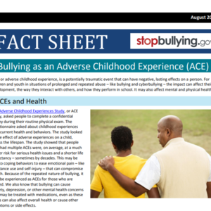 StopBullying.gov  ACE Fact Sheet (2 pages)