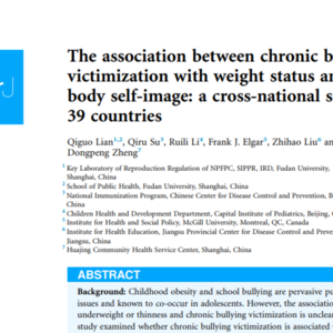 Chronic Bullying: Cross-National Study of 39 countries on Weight Status and Victimization