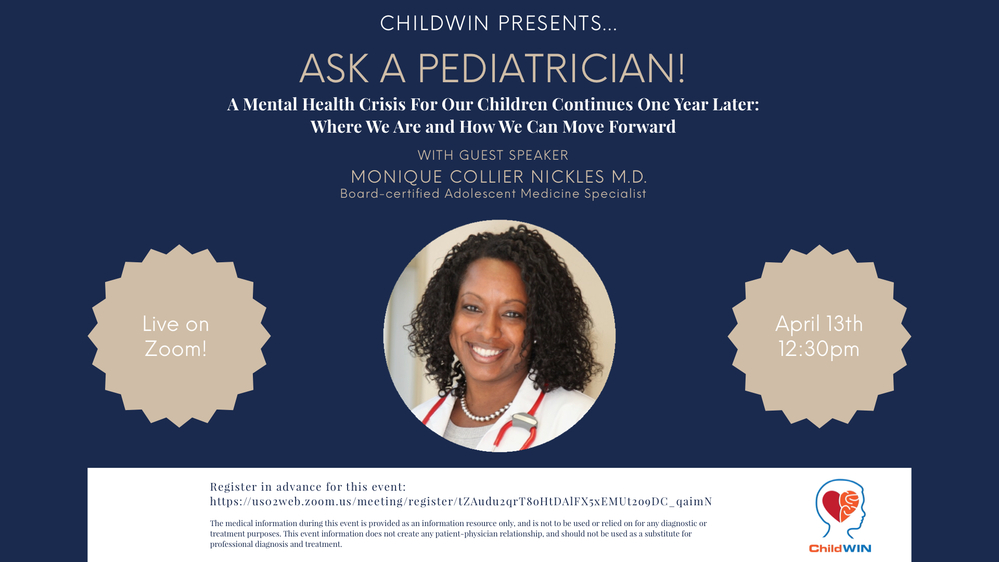 Ask A Pediatrician! A Mental Health Crisis For Our Children Continues One Year Later: Where We Are and How We Can Move Forward
