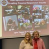 """IMG_0041: Judge Lynne Tepper and Dr. Mimi Graham, friends and colleagues in the work to prevent adverse childhood experiences by advancing the acceptance and spread of """"baby courts."""""""
