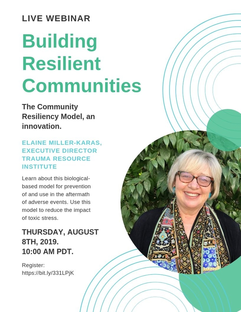 Webinar: Building Resilient Communities with Elaine Miller-Karas
