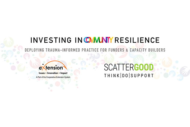 Investing in Community Resilience Web Series, Trauma-Informed Cross-Sector Networks