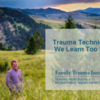 Webinar:  Trauma Techniques We Learn Too Late