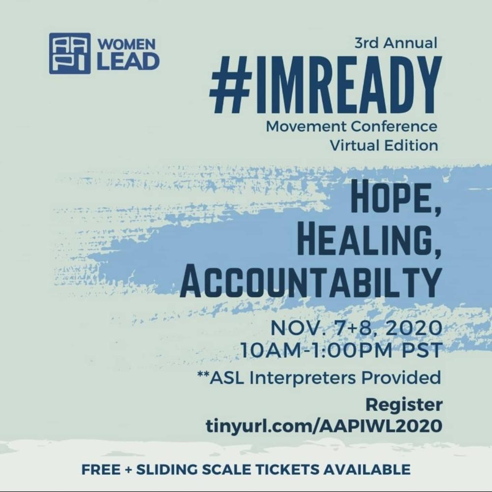 #ImReady2020 Virtual Conference: Hope, Healing, Accountability