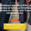 Free Webinar: The Childhood We Carry Within Us: An Overview of Adverse Childhood Experiences (ACEs) and Trauma Informed Care