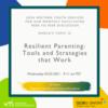 Peer-to-Peer-Resilient Parenting: Tools and Strategies that Work