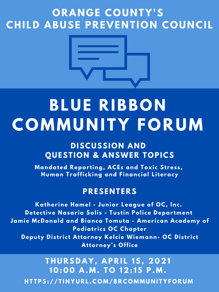 CAPC Blue Ribbon Community Forum