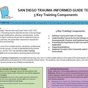SD-TIGT 5 Key Trauma-Informed Training Components .pdf