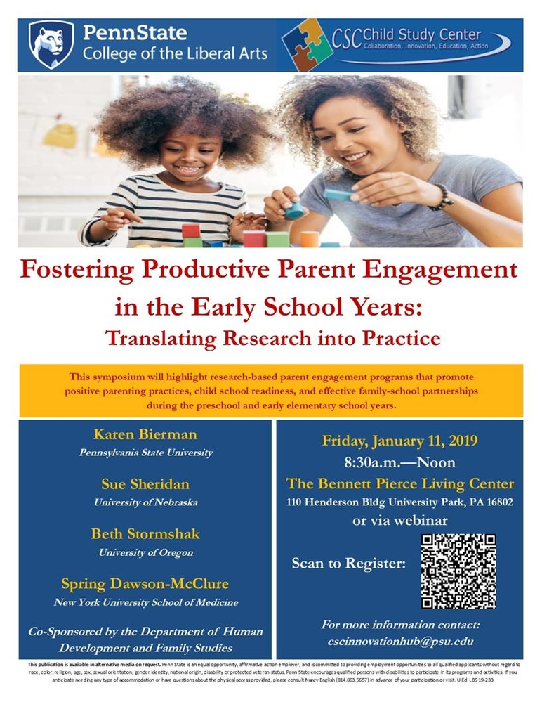 Fostering Productive Parent Engagement at School Entry (webinar)