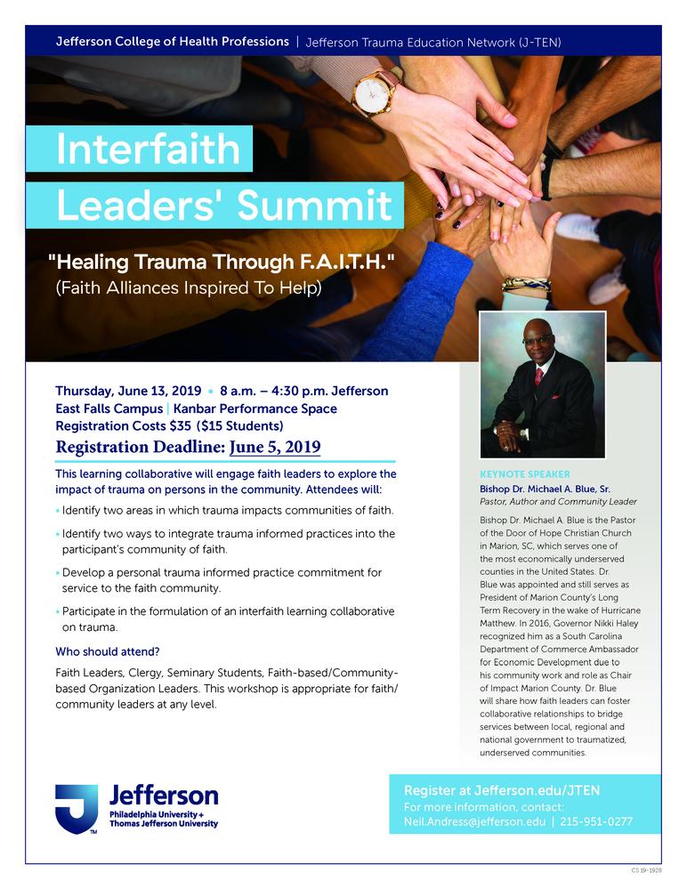 J-TEN: Healing Trauma Through F.A.I.T.H. (Faith Alliances Inspired to Help)